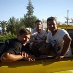 Frankie Barbados & Dean Gaffney at Easy Riders Rentals, Ayia Napa Cyprus