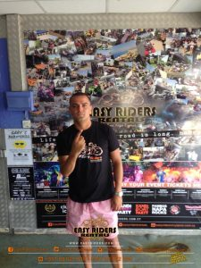 DJ Luck at Easy Riders Rentals, Ayia Napa Cyprus