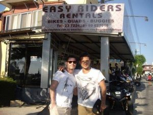Dean Gaffney at Easy Riders Rentals, Ayia Napa Cyprus