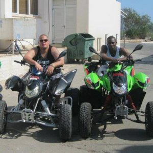 Famous Faces at Easy Riders Rentals, Ayia Napa Cyprus