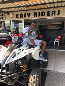 SNEAKBO on 400cc Quad Bike at Easy Riders Rentals Ayia Napa