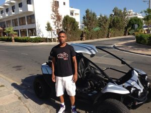 Wiley at Easy Riders Rentals, Ayia Napa Cyprus
