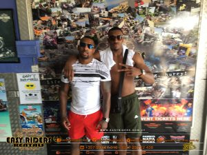 Bugzy Malones &Kane Mousah at Easy Riders Rentals Ayia Napa