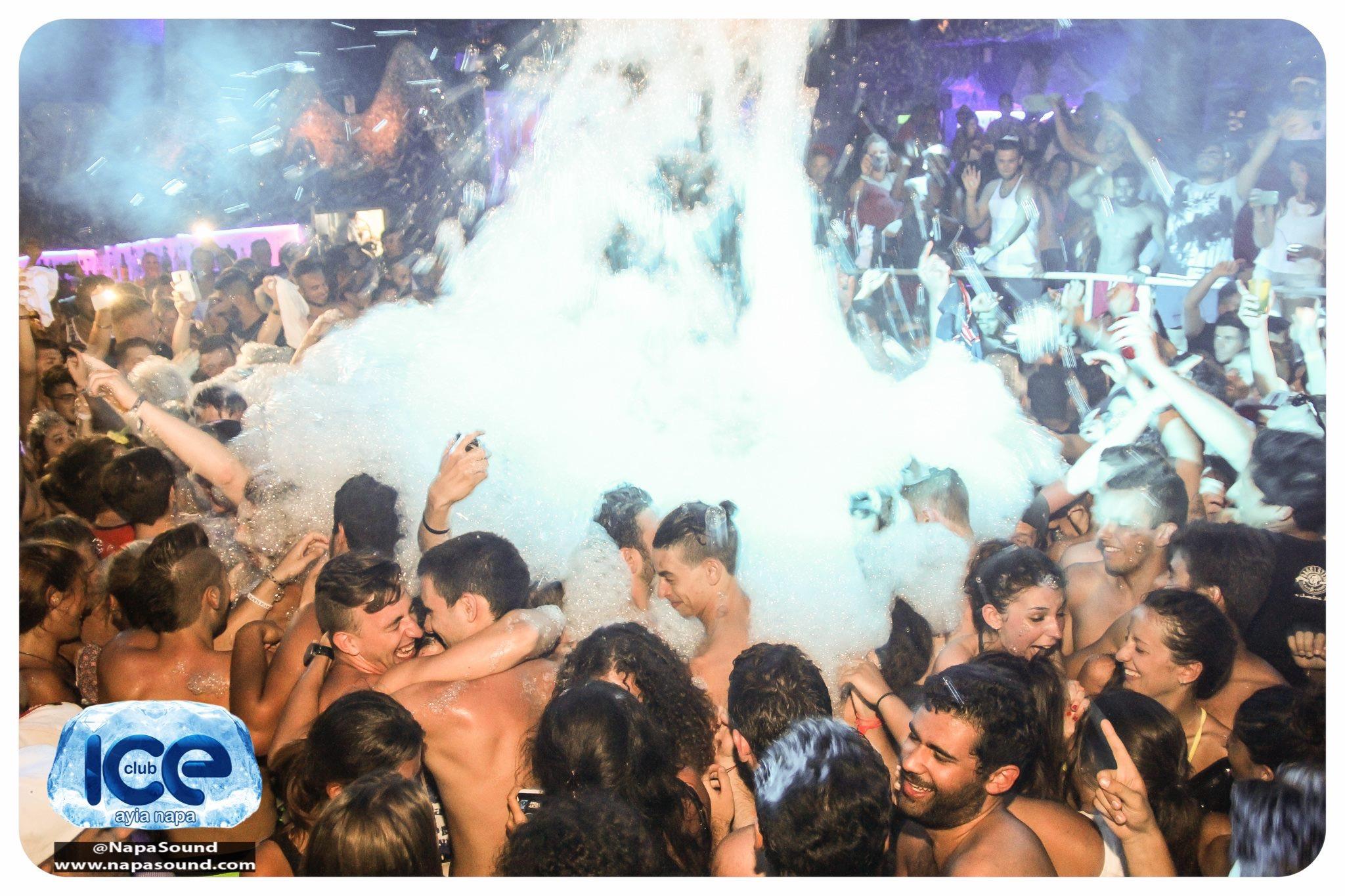 foam party   club ice ayia napa