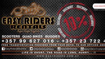 <!--:en-->10% Discount at Easy Riders Rentals, Ayia Napa, Protaras, Cyprus<!--:--><!--:ru-->Скидка 10% в Easy Riders Rentals, Айя-Напа, Протарас, Кипр.<!--:-->