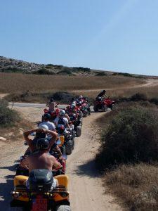 Off road extreme quad bike safari