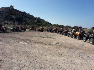 Extreme off road quad bike safari